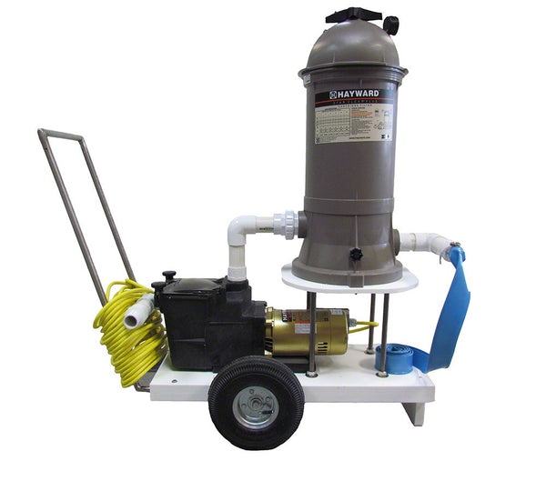 Portable Vac System 1/2 HP 90 Square Foot Filter 115V - 1-1/2 Inch With 50 Foot Cord AQPVS2000050115050