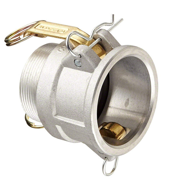 Aluminum Cam and Groove Female Coupler x Male NPT Thread - 2 Inch - Type B Coupler B200-AL