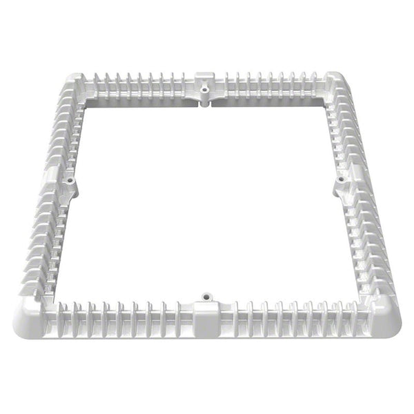 AquaStar Retro Fit Vented Riser Ring 12 Inch Square White DSMD12RR101