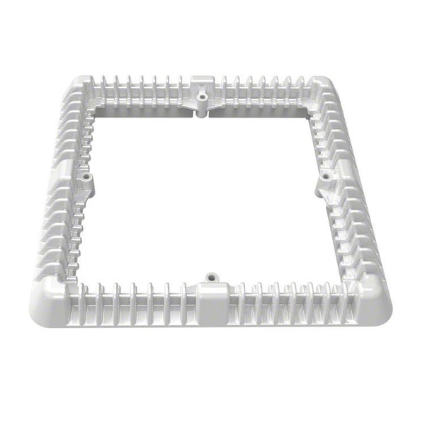 AquaStar Retro Fit Vented Riser Ring 9 Inch Square White DSMD9RR101