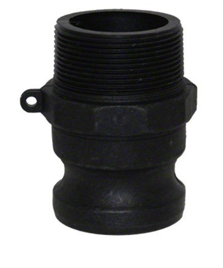 Polypropylene Cam and Groove Male Adapter x Male NPT Thread - 3 Inch - Type F Adapter F300-PP