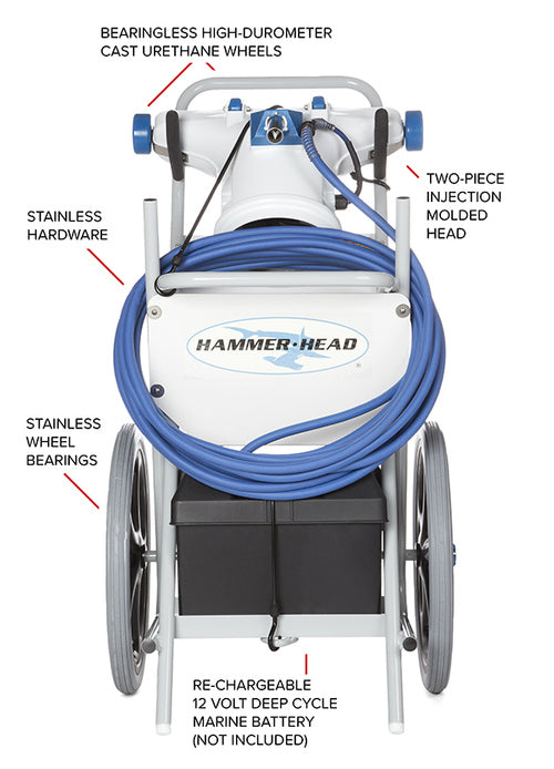HammerHead Hammerhead Resort Vacuum With 21 Inch Head, 60 Foot Cord, and 2 Debris Bags HH9110