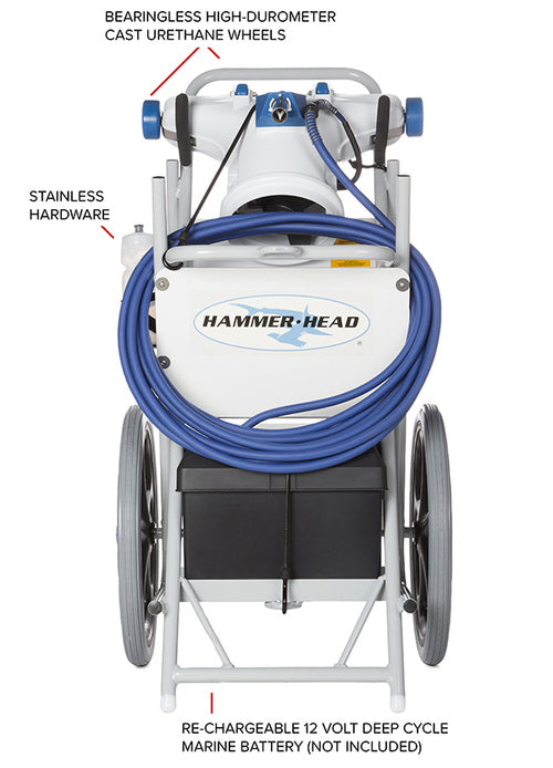 HammerHead Hammerhead Service Vacuum With 21 Inch Head, 60 Foot Cord, 2 Debris Bags, and Truck/Trailer Mount HH9130-60