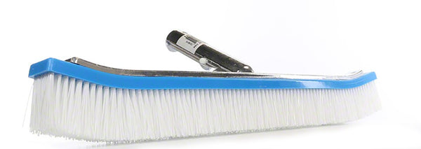 Pentair White Poly Curved Aluminum Backed Wall Brush - 18 Inch R111316
