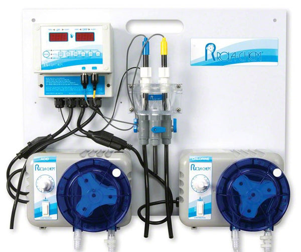 Rola-Chem Generation II Digital pH Liquid Acid/ORP Liquid Chlorine Controller Package With Two 38 GPD Legacy Peristaltic Pumps RC554107