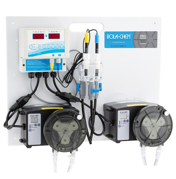 Rola-Chem Generation II Digital pH/ORP Liquid Chlorine Controller Package With One 77 GPD and One 38 GPD Pro Series 300 Peristaltic Pumps RC554512
