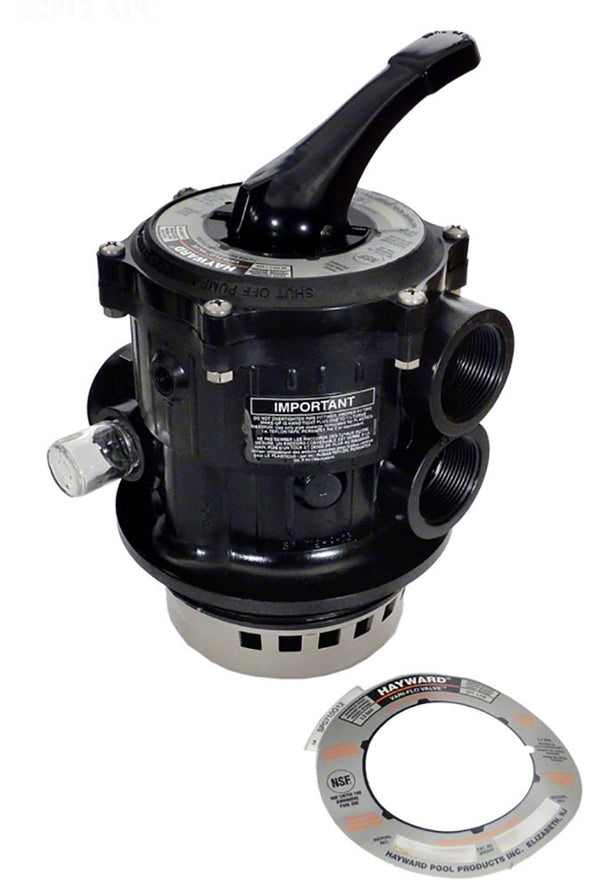 Hayward Vari-Flo Multiport 6-Position Control Valve V-Threaded - 1-1/2 Inch Top Mount (Sand) - 100 GPM SP07122