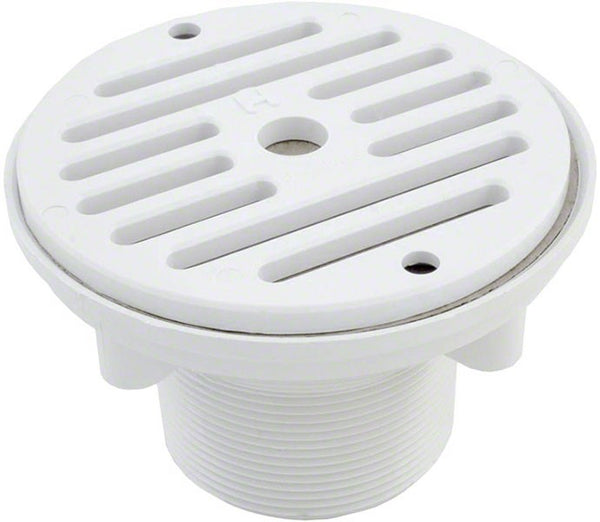 Hayward Inlet Fitting Adjustable Wall/Floor - 1-1/2 Inch Socket x 2 Inch MIP - White SP1424S