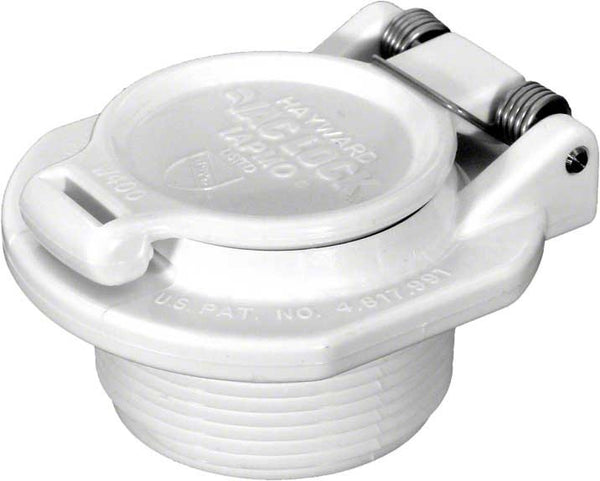 Hayward Vacuum Lock Safety Wall Fitting - Free Rotation - 1-1/2 Inch MPT W400BWHP