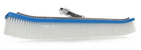 Pentair White Nylon Curved Aluminum Backed Wall Brush - 18 Inch R111046