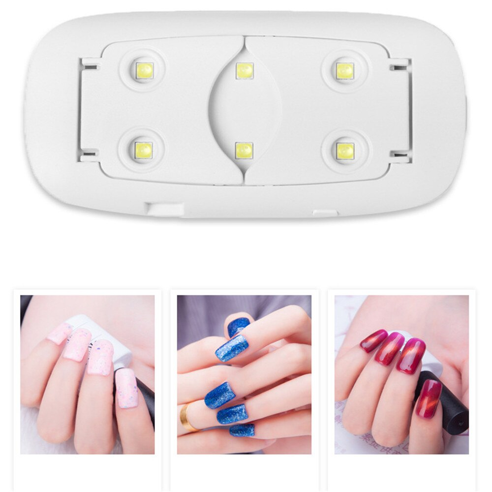6 LEDS Lamp Nail Dryer Mouse Shape UV LED Nail Lamp Home DIY Nail UV Gel Lamp Portable USB Cable 5V Varnish Dryer Polish Dryer