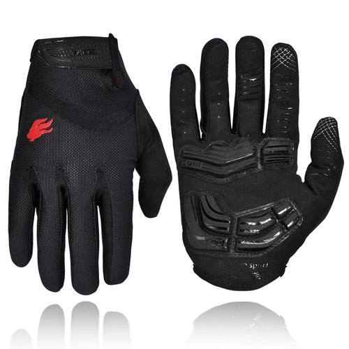 Outdoor Full Finger Gel Touch Screen Cycling Gloves Off Road
