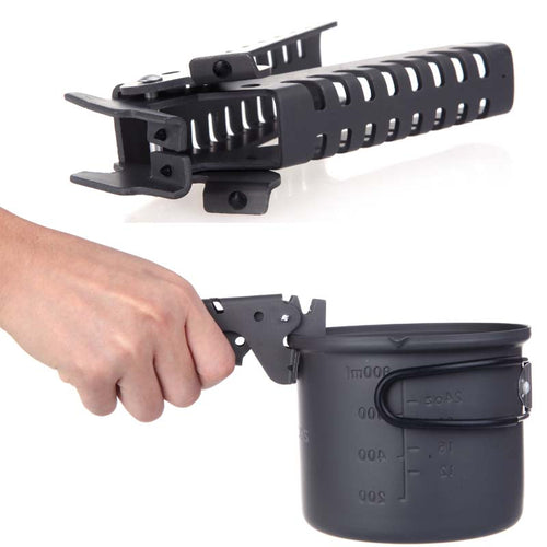 Camping Barbecue Cookware Tools Pan Bowl Pot Gripper