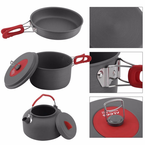 Camping Cookware set Ultralight Cooking Picnic Kettle