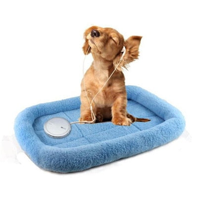 Pet Dog Mat Winter Soft Warm Rectangle Bed Small Puppy Cotton