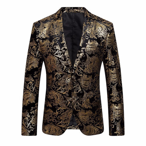 Men's Dress Floral Suit Slim Fit Stylish Blazer