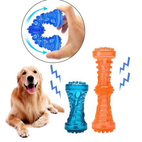Dog Toy Chew Rubber Bell Squeaky Sound  for  Funny