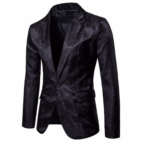 Men's Casual One Button Fit Suit Blazer