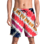 Men Casual 3D Cloud Printed Beach Work Straight Loose Board Shorts