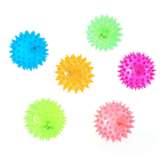 Colorful Dog Puppy Pet Hedgehog Ball