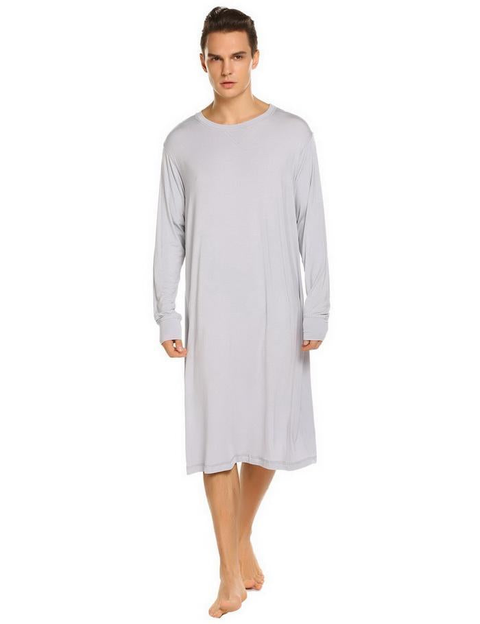 Men Sleepwear Long Nightshirt