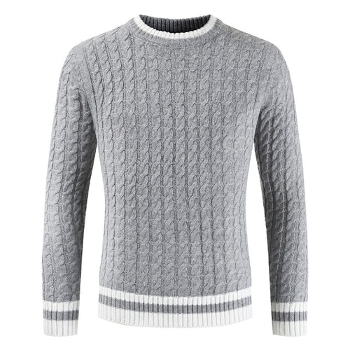 Men Winter Casual Long Sleeve Slim Pullover Fit Sweaters