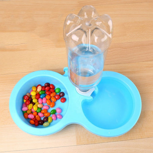 Nice Plastic Double Using Pet Feeder For Feeding And Drinking Bowl
