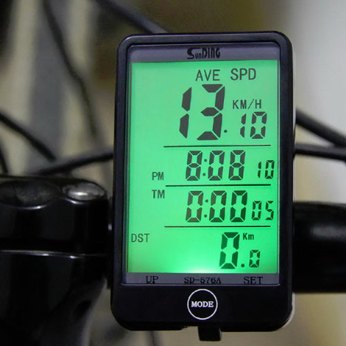 Computer Light Mode Touch Wired Bicycle Computer Cycling Speedometer
