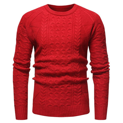 Sweater  Men Winter Solid Pullover Casual Blouse