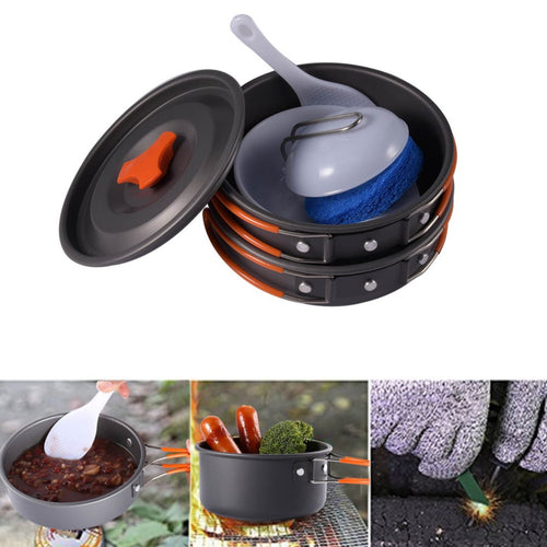 Outdoor Camping Hiking Picnic BBQ Cookware Backpacking Cooking