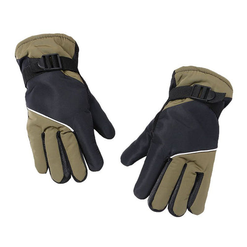 Men Women Unisex Cycling Gloves Thermal Warm Windproof Full Finger