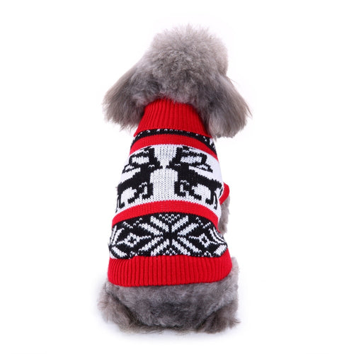 Cat Winter clothes Warm Colorful Cartoon Round Neck Sweater Coat Costume