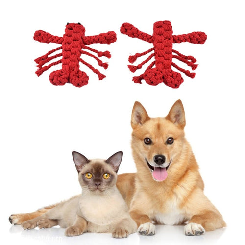 Designing Chewing Toys Cartoon Lobster Dog Cotton  Cotton Rope