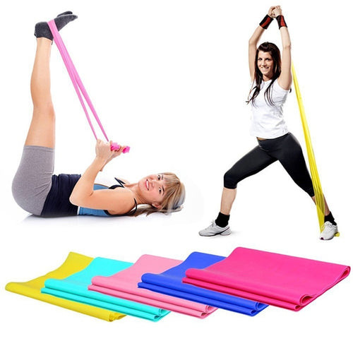 Yoga Pilates Stretch Resistance Band Exercise Fitness