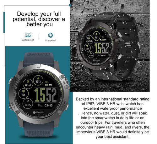 Men Smartwatch Heart Rate Algorithm Pedometer FOR iOS/ Android