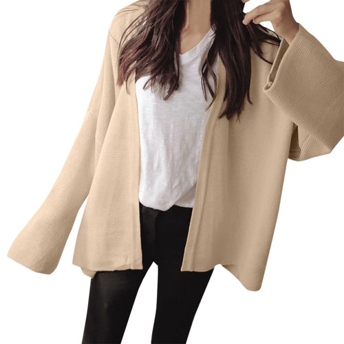 Women Winter Fashion  Solid Color Long Sleeve Loose Outwear Coat