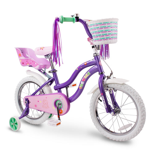 Kid's Bike Steel Frame Children Bicycle Little Princess Style