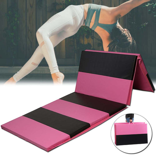 8FT Folding Gymnastics Tumble Floor Mat Fitness Exercise Thick