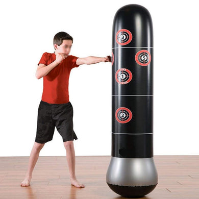 63 inches Boxing Punching Bag Inflatable Free-Stand Tumbler