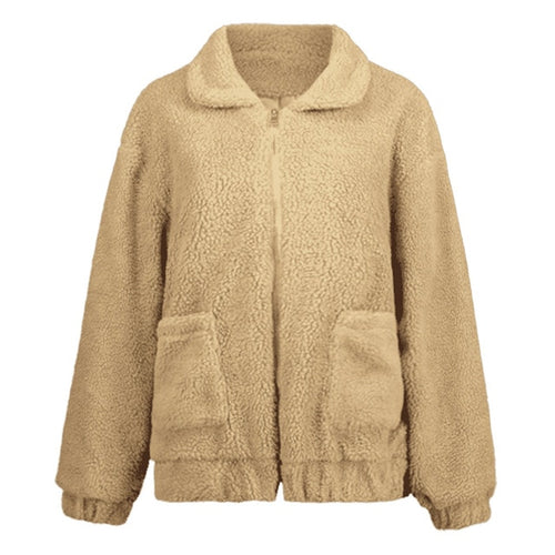 Womens Winter Oversized Coat Jacket Pockets Warm