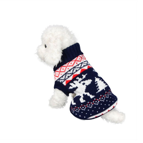 Cute  Dog   Clothes Thick Winter Sweater for  Deer