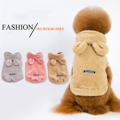 Puppy Sweater Warm Winter Clothes Turtleneck Sweater Two-Legged Clothes