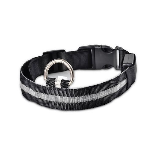Dog collar black Nylon durable adjustable Comfortable to wear harmless Rain