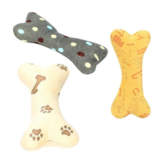 Cute Strip Plush Pet Dog Toy