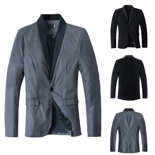 Men's Autumn Winter Casual Slim Long Sleeve Suit