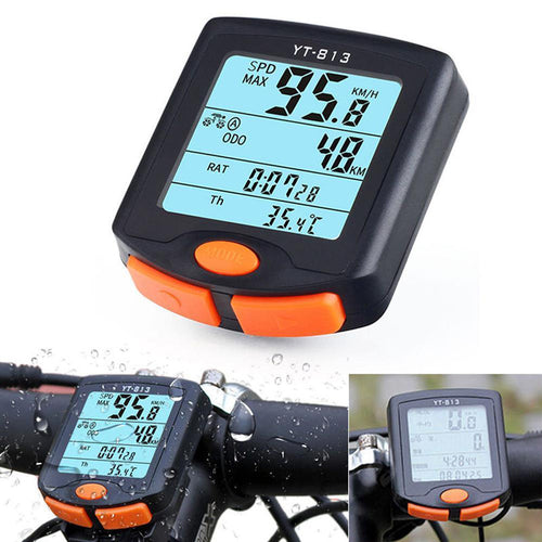 New Multifunction portable Bike Cycling Computer Odometer Speedometer