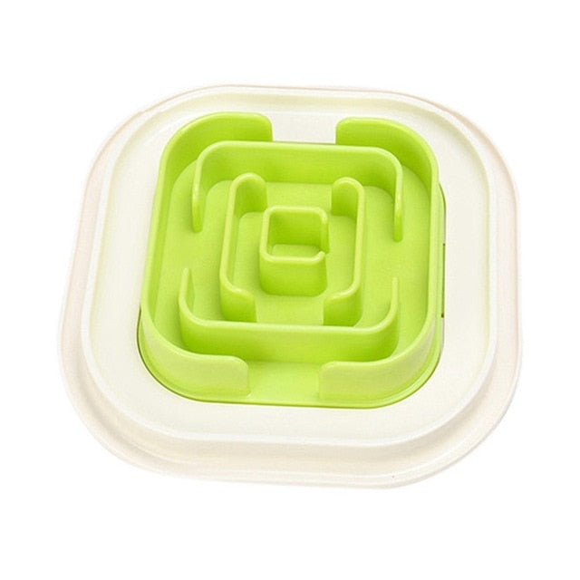 Pet Maze Bowl for Developing Healthy Diet Dogs Plastic Food Slowing