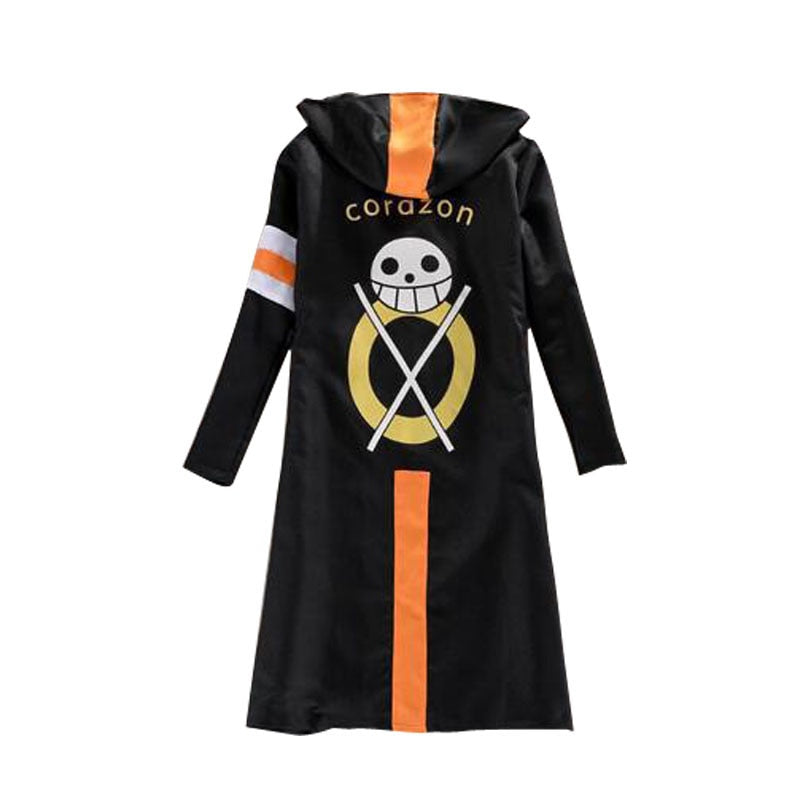 One Piece Costumes Luffy Law Cloak Men coat