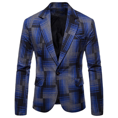 Spring Formal Stripe Long Sleeve Waistcoat  Men Blazer