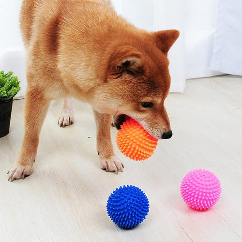Toys Pet Chew Rubber Tooth Cleaning Red Ball Food for Dog